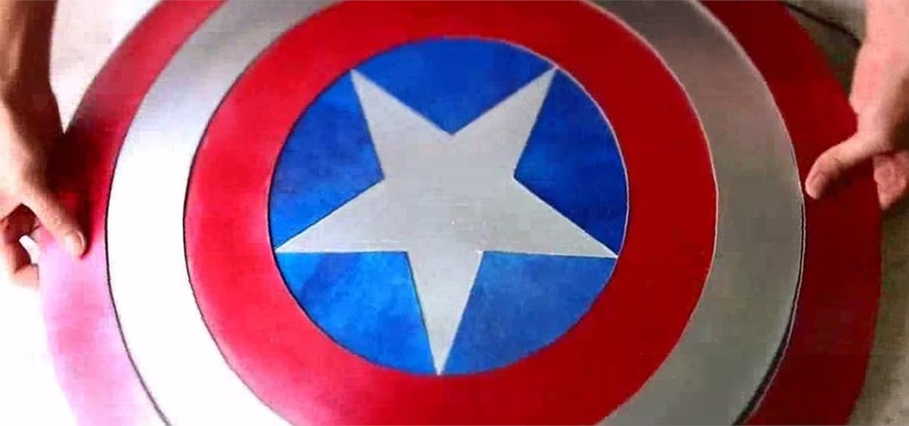 Make a Cardboard Captain America Shield for Halloween