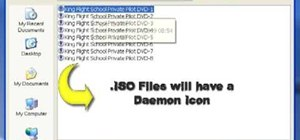Mount an ISO file using Daemon Tools on your computer
