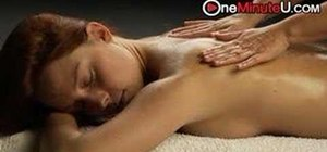 Give a professional style back and shoulder massage