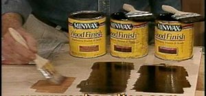 Mix wood stains to create custom colors