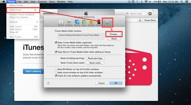 How to move your iTunes Library to another location