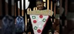 Make a pizza costume for Halloween