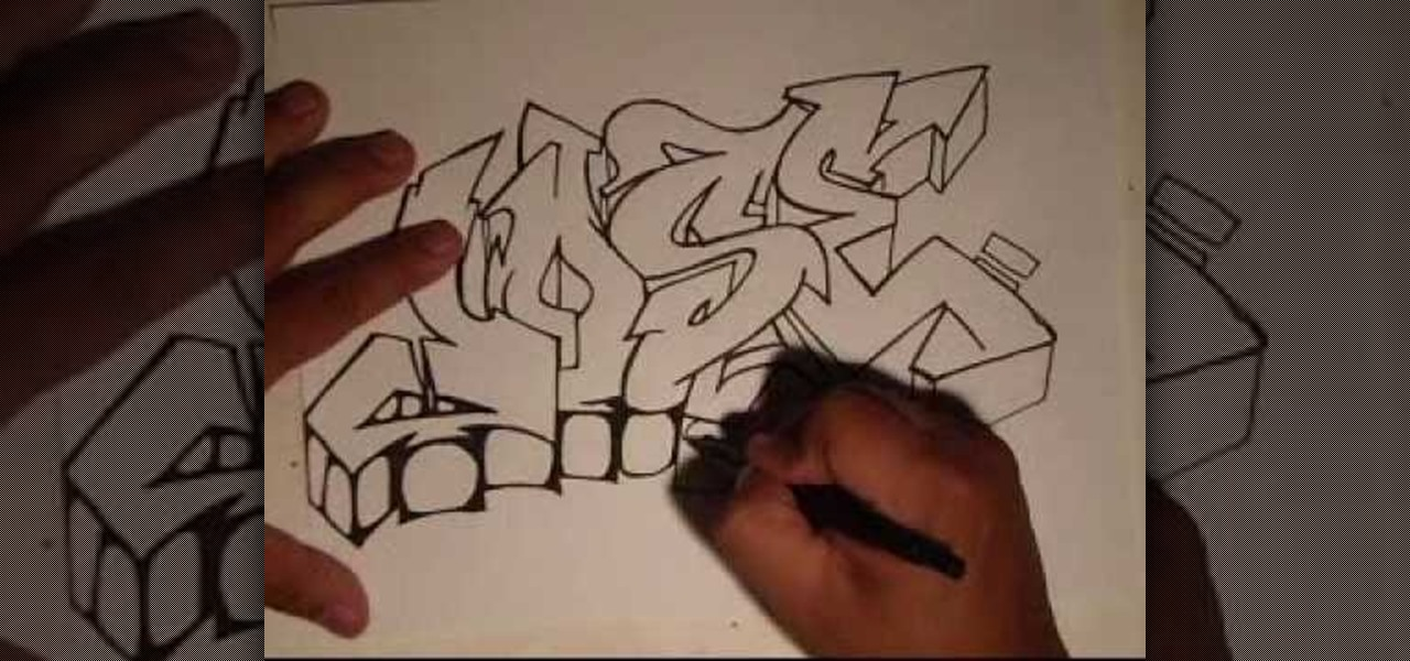 How to Draw Graffiti Letters - Write Your Name in Graffiti