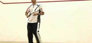 Use fancy footwork to play squash