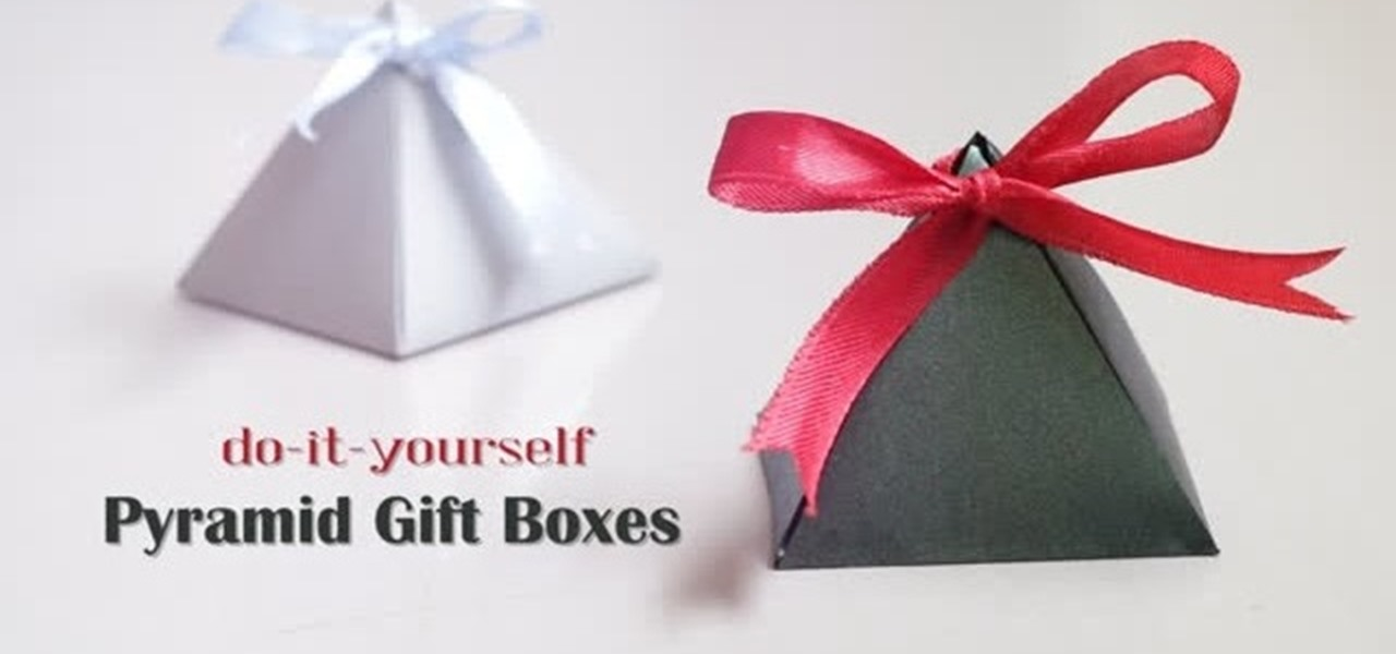 How To Origami Pyramid Gift Boxes WonderHowTo