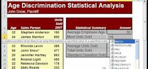 Sum and average statistical data within MS Excel