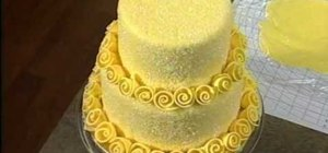 Make & decorate a vintage retro rose romance cake