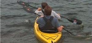 Tandem paddle a kayak