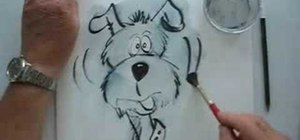 Draw a cartoon-style dog