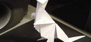 Make a folded-paper Tyrannosaurus rex with origami