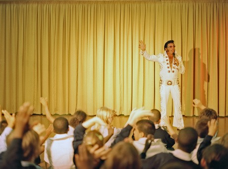 Elvis Nut Races to Groom 148 Grade School Impersonators