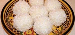 Make Moroccan coconut truffles