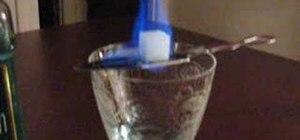 Prepare absinthe bohemian style