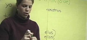 Conjugate stem changing verbs in Spanish