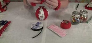 Make easy fabric Christmas ornaments