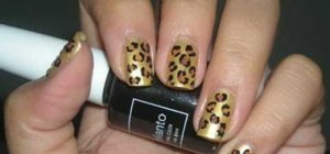 Create a hot cheetah print nail look