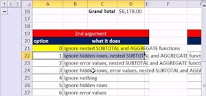 Ignore nested subtotals with AGGREGATE in MS Excel