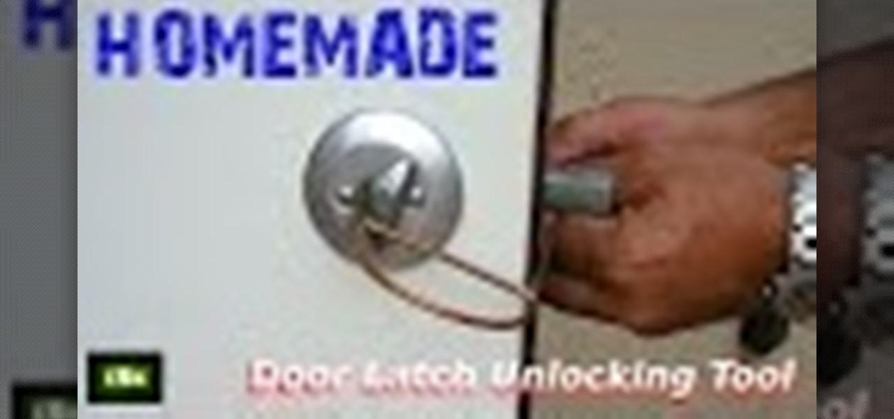 Diy Door Lock Latch Unlocking Tool 171 Macgyverisms