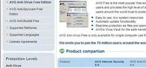 Download the AVG Free antivirus software
