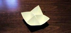 Fold a geometric origami salt cellar