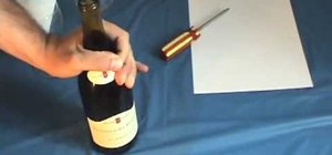 Open a Bottle of Wine Without a Corkscrew