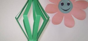 Craft a decorative paper lamp with your kids