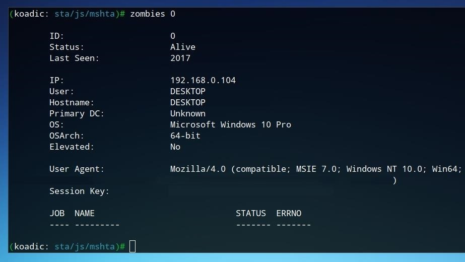 How to Use the Koadic Command & Control Remote Access Toolkit for Windows Post-Exploitation