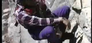 Self rescue from a crevasse while climbing