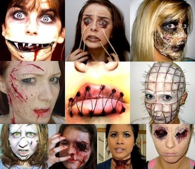Chicks Do Gore: 10 Nauseating Halloween Makeup Tutorials