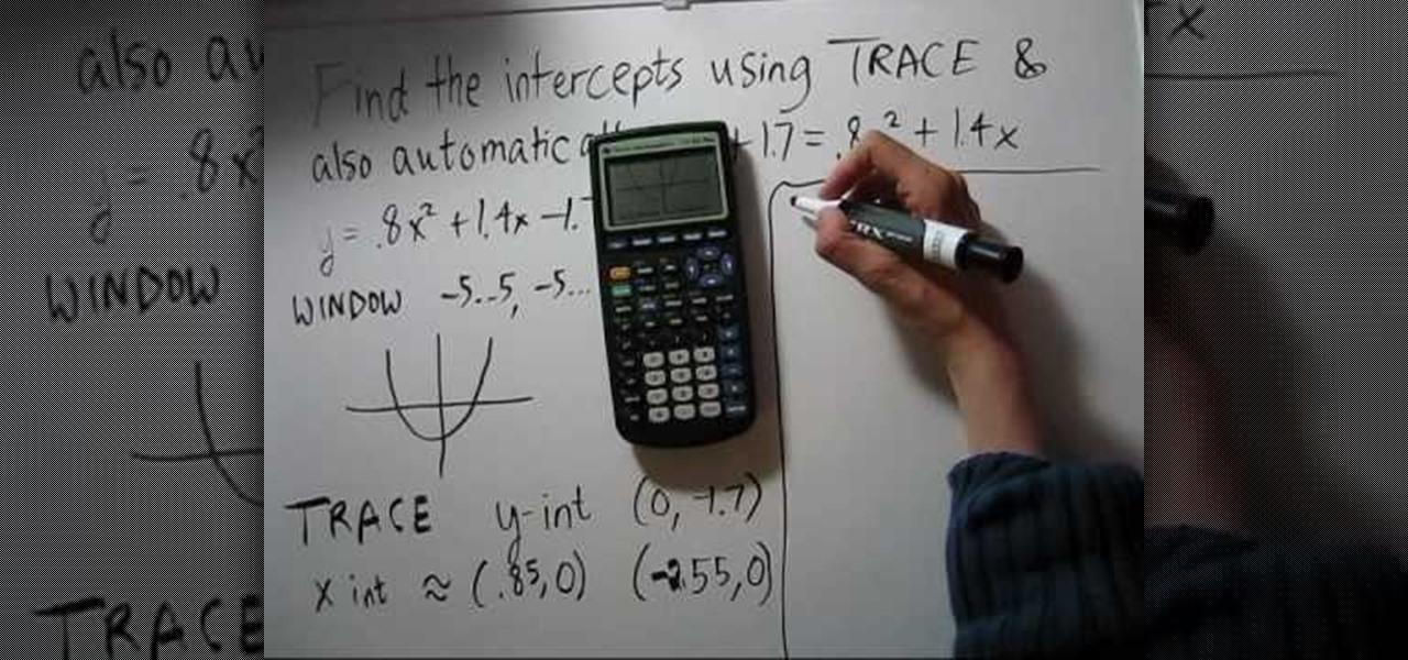 How To Find Intercepts On A Calculator Ti 83 Math Wonderhowto