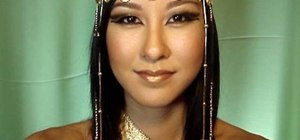 Create an Egyptian queen makeup look w/ DIY headdress