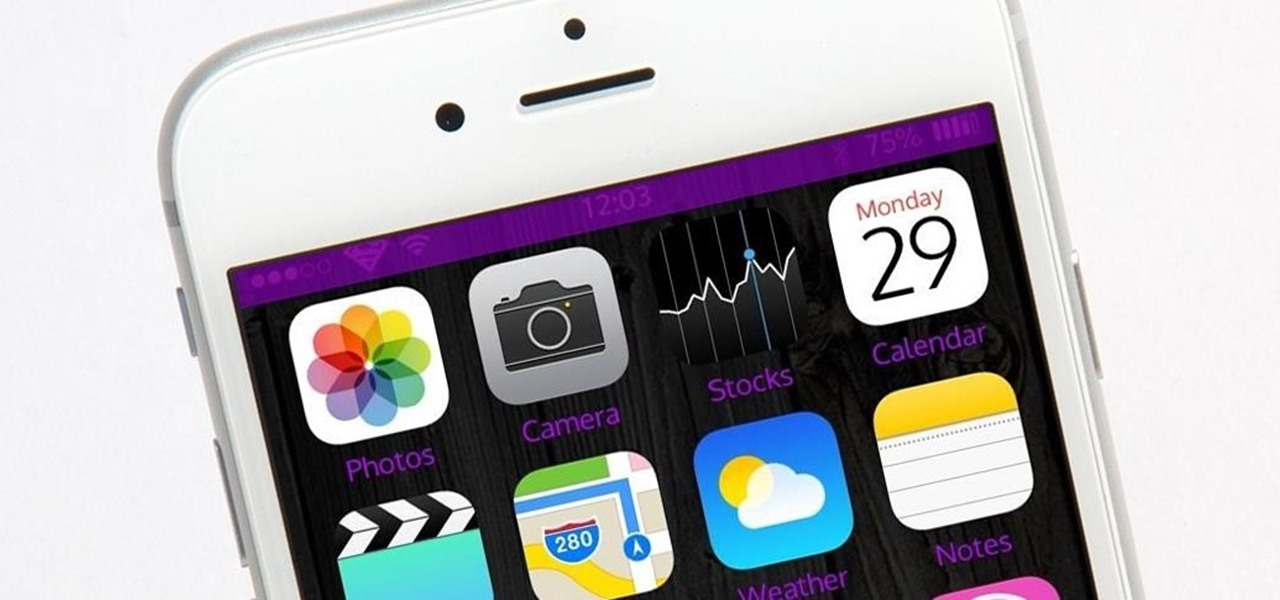 how to get status bar back on iphone