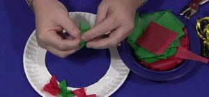 Make a paper tissue wreath with your kids