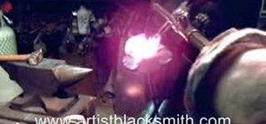Blacksmith a steel rose