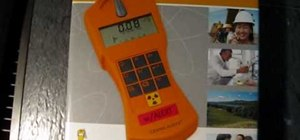 Use a handheld GAMMA-SCOUT Geiger counter radiation detector and dosimeter