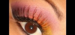 Create a dramatic tropical look with Bitch Slap makeup