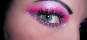Create a pretty in pink makeup look