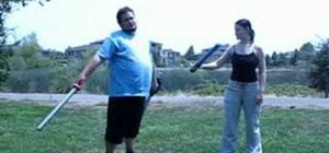 Boffer sword fight with duel wielding