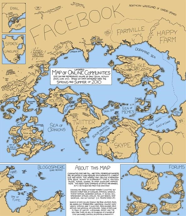 The Internet as a Map