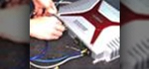 Install a car amplifier