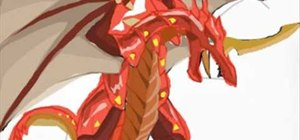 Draw the dragon Drago from Bakugan