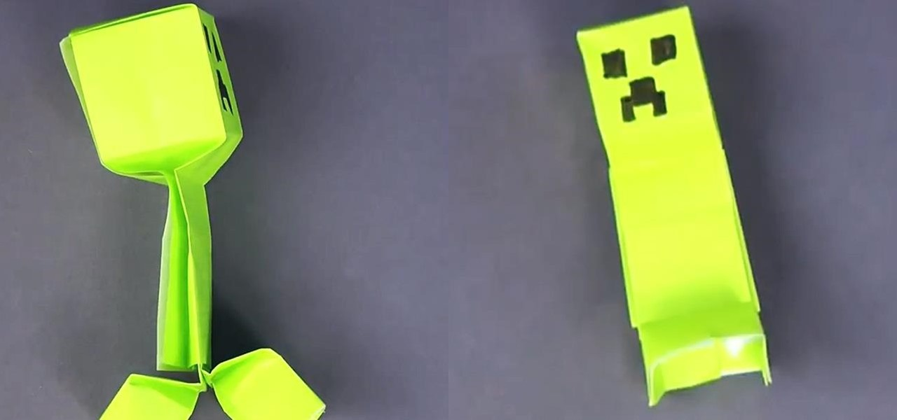 How To Fold A Simple Minecraft Creeper Minecraft Wonderhowto