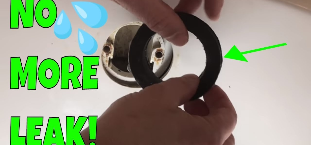 Picture of: How To Replace Bathtub Overflow Drain Gasket How To Videos Wonderhowto
