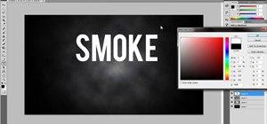 Create a cool smoke text effect using Adobe Photoshop