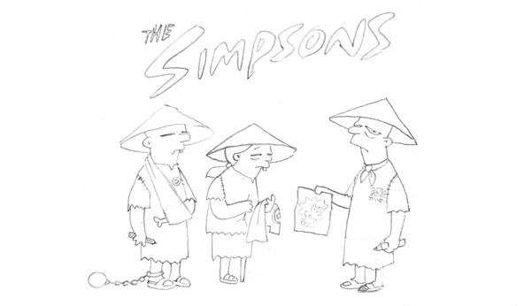 Banksy's Storyboards From the Simpsons Intro