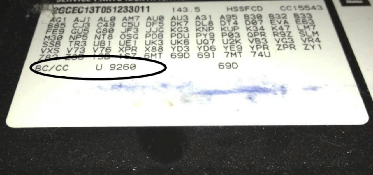 How to Find the Paint Code on a 2005 Chevy Pick-Up