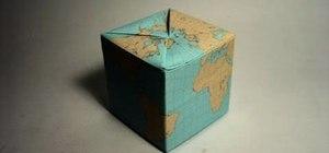 Fold a simple origami globe shaped like a box