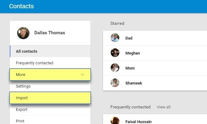 how to add contacts to hotmail on android