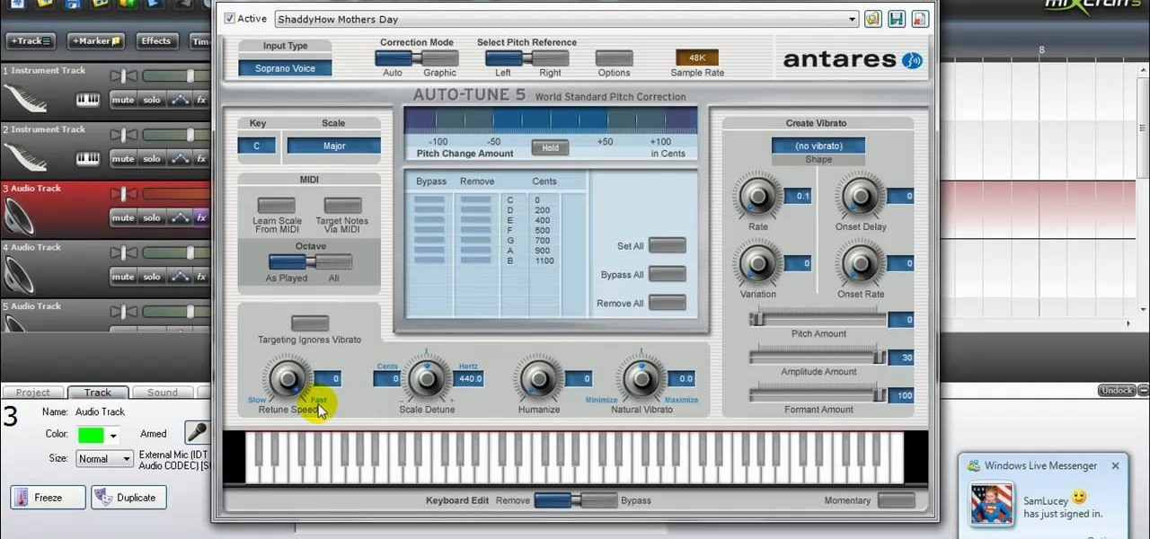 how to autotune your voice using mixcraft 5 0 software tips