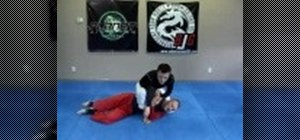 Do a basic arm bar jujitsu move from the mount